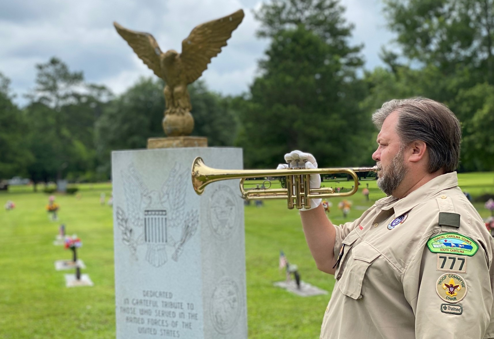Taps sounded at cemetery