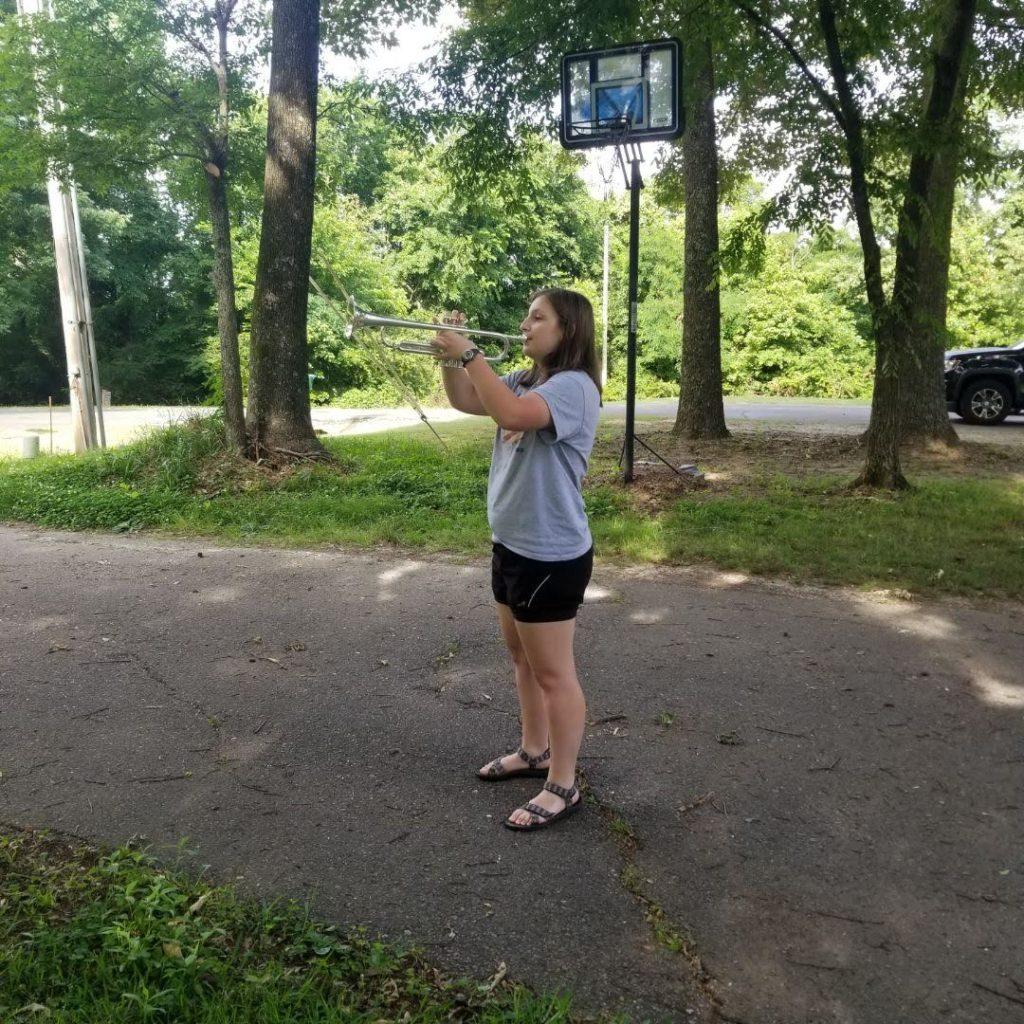 Alyson Nunn sounding Taps from Mississippi
